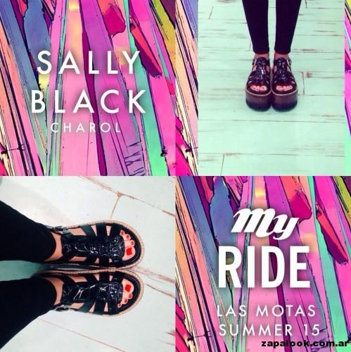 sandalias negras de charol -Las Motas verano 2015