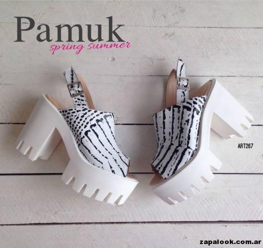 sandalias negras yy blancas - Pamuk verano 2015