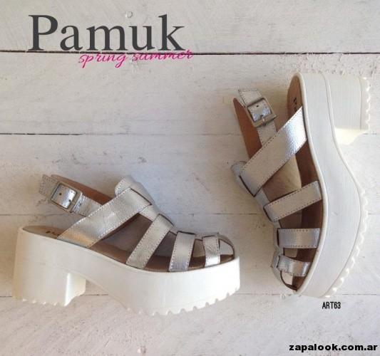 sandalias plateadas - Pamuk verano 2015