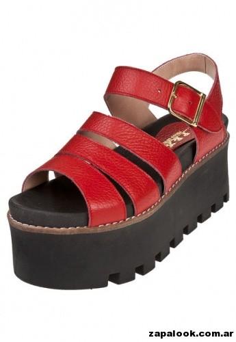 sandalias rojas  Perugia primavera verano 2015