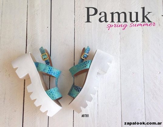 sandalias turquesa - Pamuk verano 2015