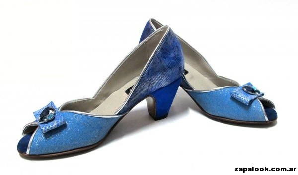 zapatos azules  - Luz Principe primavera verano 2015