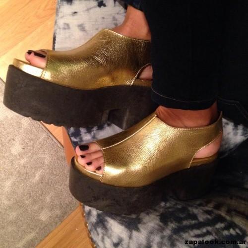 zapatos dorados - Chao Shoes primavera verano 2015