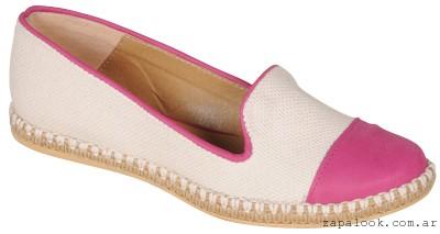 balerinas crudo y fucsia Ignacia zapatos verano 2015