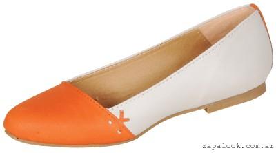 balerinas crudo y naranja Ignacia zapatos verano 2015