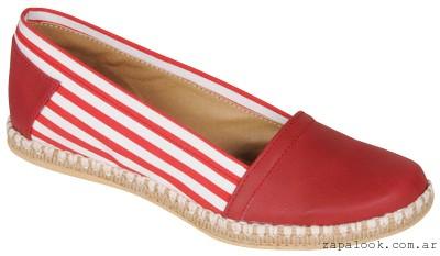 balerinas rojas con rayas Ignacia zapatos verano 2015