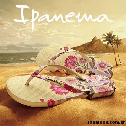 ojotas para mujer estampadas Ipanema verano 2015