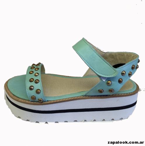 sandalia verde aqua -  Liotta verano 2015