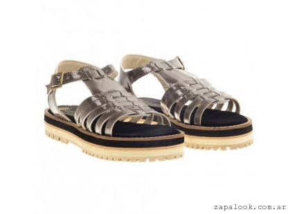 sandalias grises Le Loup Shoes verano 2015