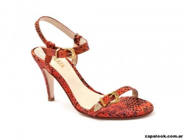 sandalias rojas y negras Huija verano 2015