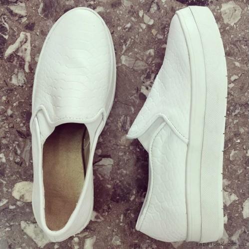 panchas blanca de cuero - Calzados Gula verano 2015