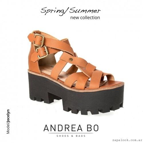 sandalias color suela con plataforma de goma - Andrea Bo verano 2015