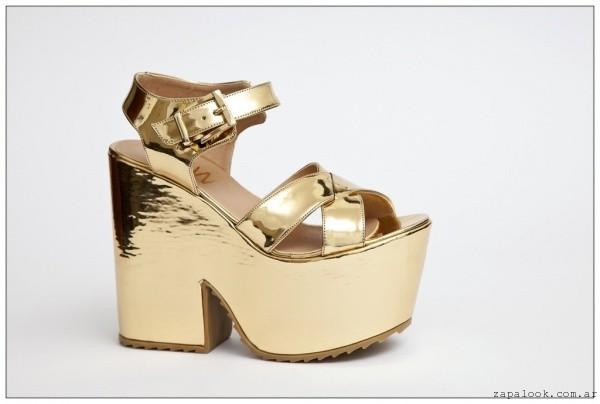 sandalias doradas  JOW calzados 2015