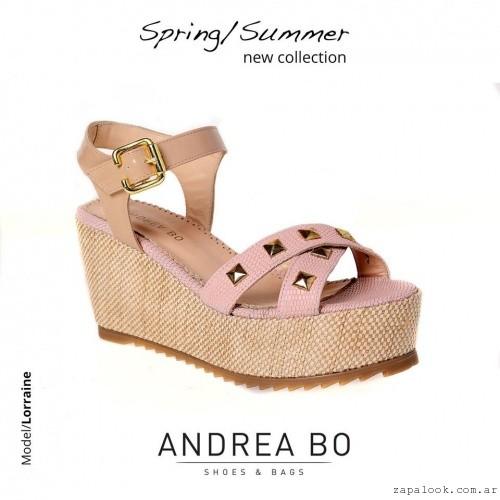 sandalias rosadas con plataformas - Andrea Bo verano 2015