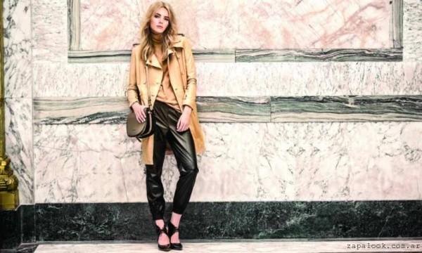 bandolera y stilettos con cordones Prune invierno 2015