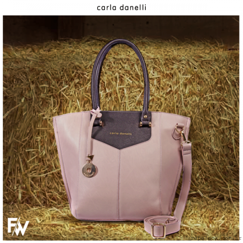 bolso rosa palido  Carla Danelle invierno 2015