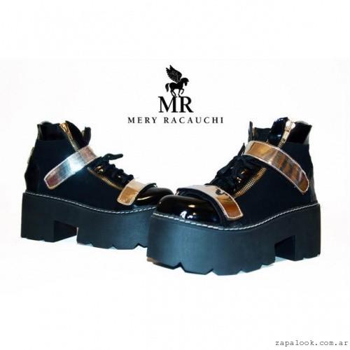 borcego negros y dorados Otoño invierno 2015 Mery Racauchi