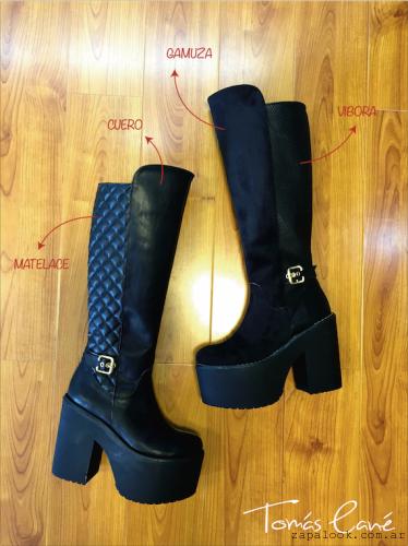 botas bucanera de cuero y gamuza Tomas Cane - Calzados otoño invierno 2015