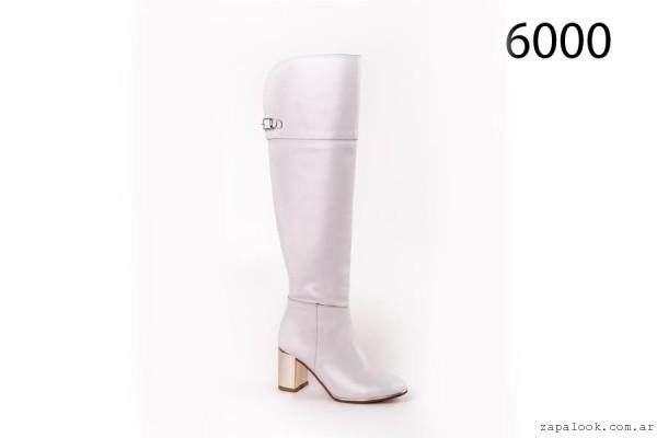 botas bucaneras blancas Alfonsa Bs As invierno 2015