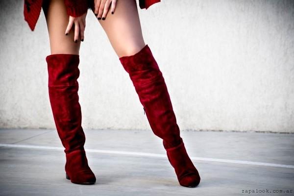botas bucaneras rojas Alfonsa Bs As invierno 2015
