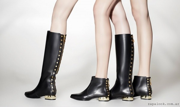 botas con tachas y cierre Saverio Di Ricci invierno 2015