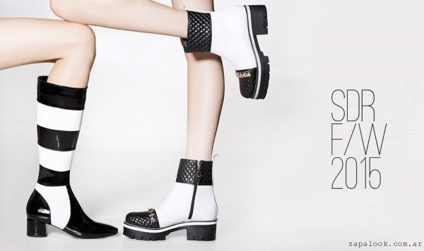 botas en blanco y negro Saverio Di Ricci invierno 2015