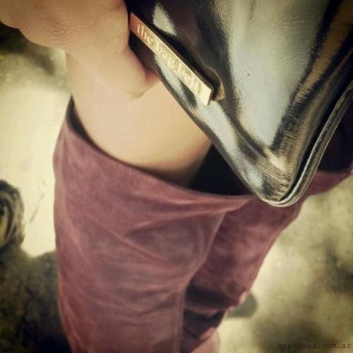 bucanera bordo y sobre de cuero The Bag Belt invierno 2015