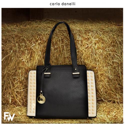 cartera con tachas negra  Carla Danelle invierno 2015