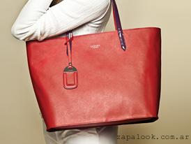 cartera grande roja Lazaro otoño invierno 2015