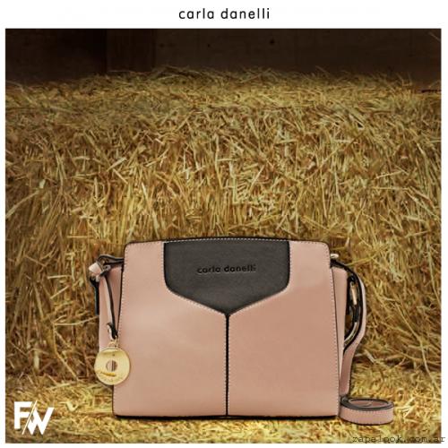 cartera rosa palido  Carla Danelle invierno 2015