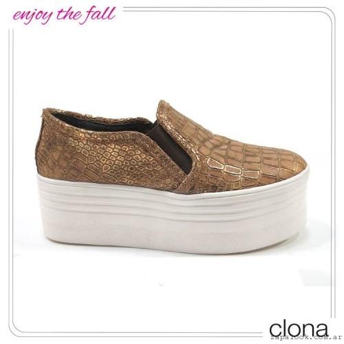 panchas doradas con plataformas  otoño invierno 2015 - Clona