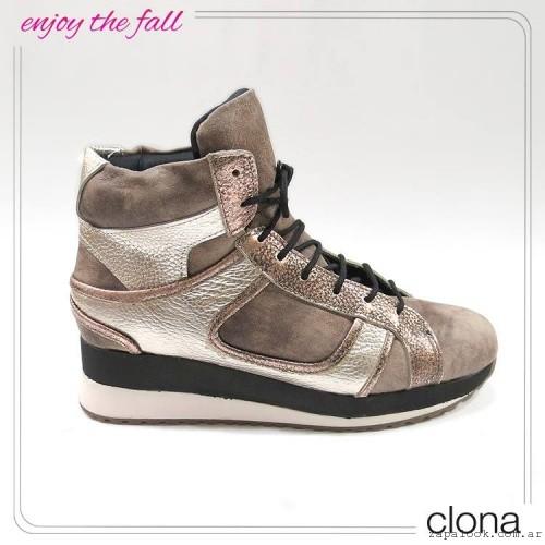 zapatillas con plataformas  otoño invierno 2015 - Clona