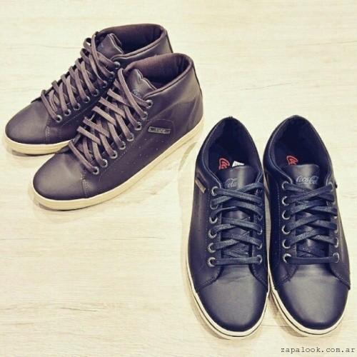 zapatillas cuero  Coca cola Shoes invierno 2015