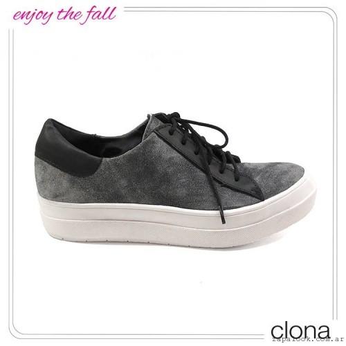 zapatillas de gamuza otoño invierno 2015 - Clona