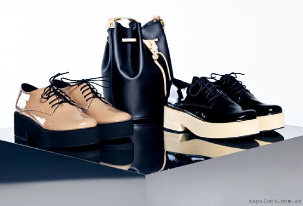 zapatos abotinados con base Calzados Mishka otoño invierno 2015