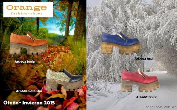 zapatos con plataformas de madera  calzados Orange invierno 2015