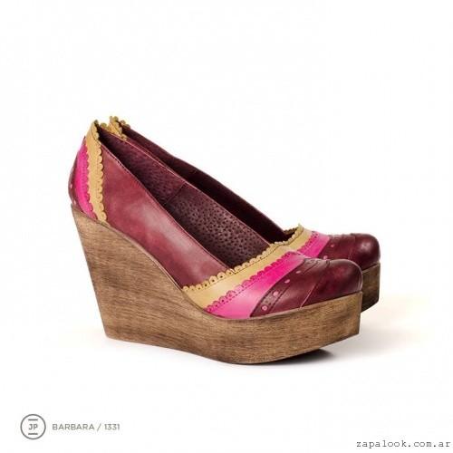 zapatos morados  invierno 2015 - Juana Pascale