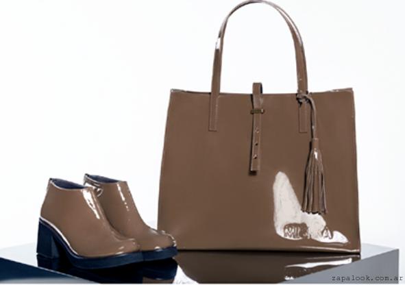 zapatos y carteras beige Calzados Mishka otoño invierno 2015