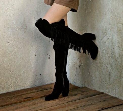 botas bucaneras con flecos  -  zapatos JOW otoño invierno 2015