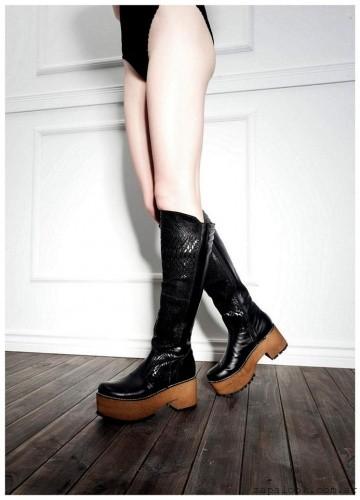 botas caña alta plataforma de madera Lady Comfort invierno 2015