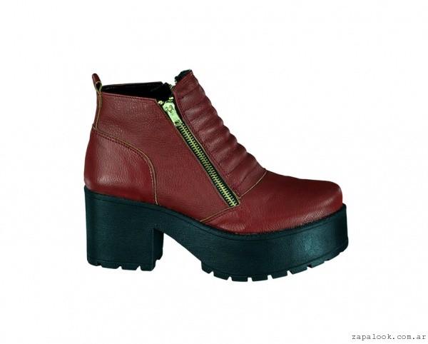 botineta bordo con cierre - calzados Berna invierno 2015