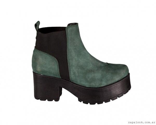 botineta con elastico verde - calzados Berna invierno 2015