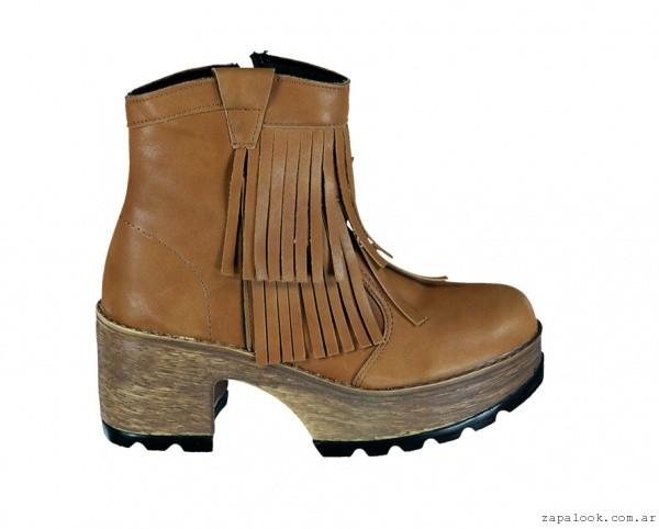 botineta con flecos - calzados Berna invierno 2015