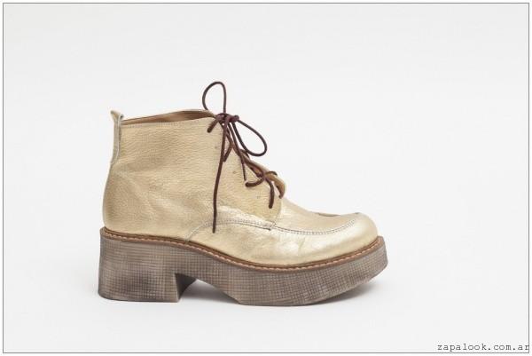 botineta metalizada  -  zapatos JOW otoño invierno 2015