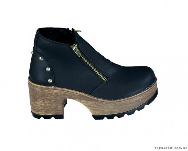 botineta negra con cierre - calzados Berna invierno 2015