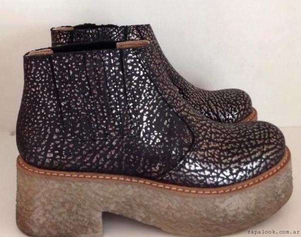 botinetas metalizadas  -  zapatos JOW otoño invierno 2015