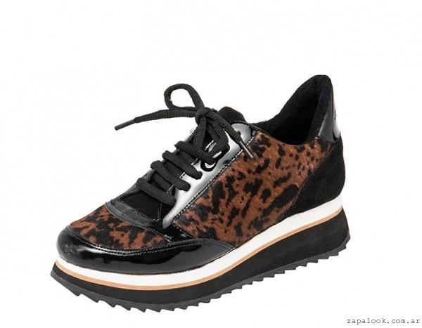 zapatillas animal print invierno 2015 calzados Natacha