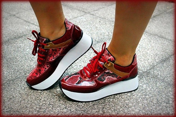 zapatillas bordo con plataformas otoño invierno 2015 TOPS calzados