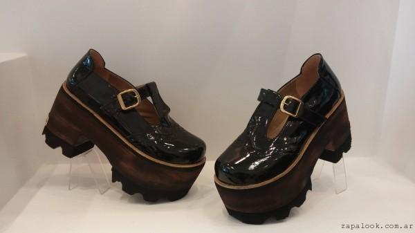 zapatos acharolados con plataforma luna chiara 2015