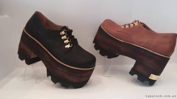 zapatos con plataforma de madera luna chiara 2015